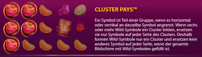 Berry Burst Cluster Pays