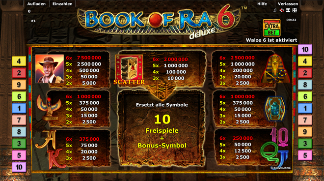 online casino spiele book of ran