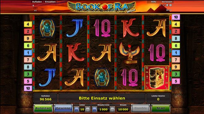 Book of Ra deluxe Novoline Spiel
