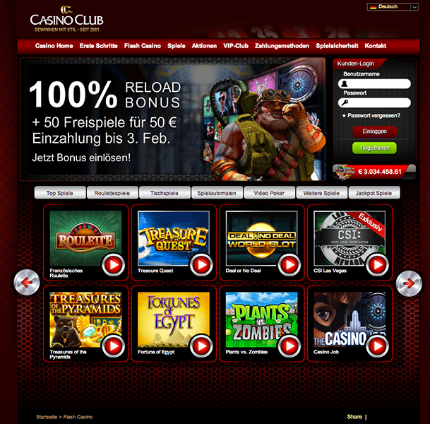 casino club aktionen