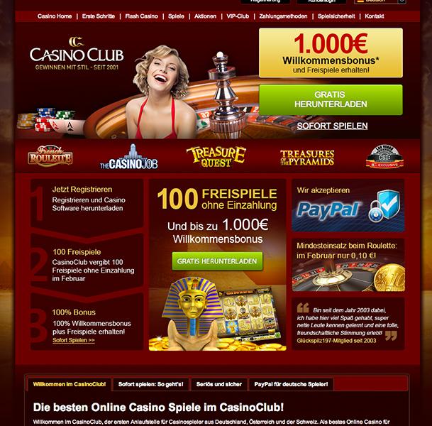 casino club einzahlungsbonus