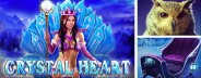 crystal heart banner
