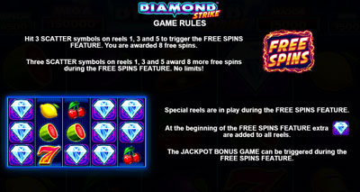 Diamond Strike Freispiele Bonus