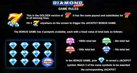 Diamond Strike Jackpot Spiel