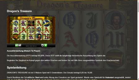 Dragons Treasure Auszahlungsquote