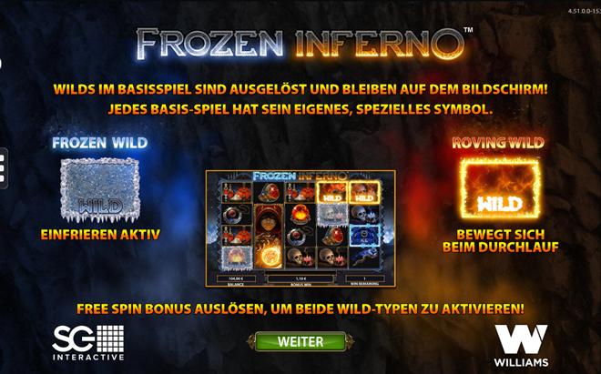 Frozen Inferno Besonderheiten