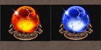 Frozen Inferno Kristall Kugel