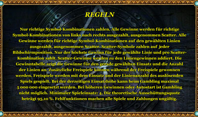 golden ark regeln