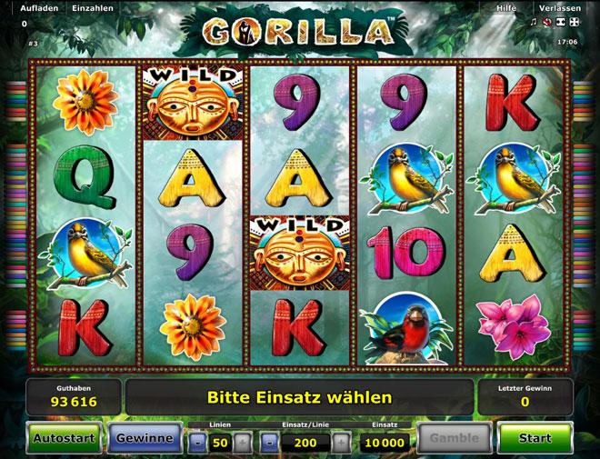 gorilla novoline spiel