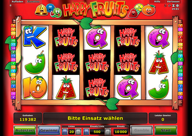 happy fruits novoline