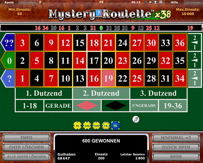 mystery roulette x38 online
