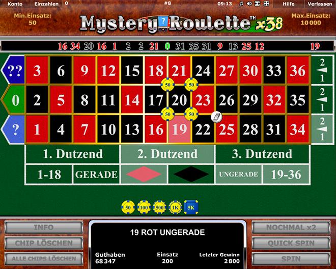 mystery roulette x38 spielen