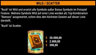 Ramses Book Wild-Scatter