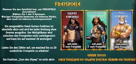 Rise Of Olympus Freispiele Bonus