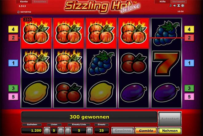 sizzling hot spielen