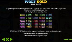 Wolf Gold Gewinnlinien